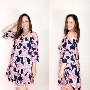 Simply Southern Cold Shoulder Women's Dress